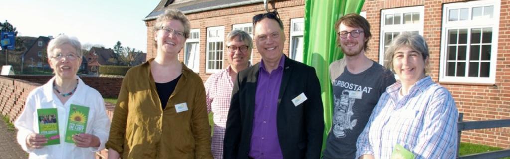 Andreas und der neugegründete Ortsverband der Grünen in List