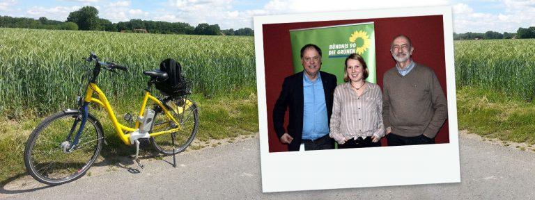 Andreas Tietze mit dem Ortvorstand Bündnis 90/DIE GRÜNEN Heide