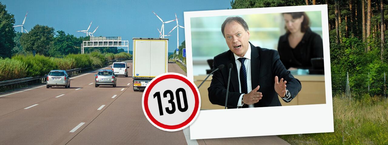Andreas Tietze tritt ein für ein Tempolimit auf deutschen Autobahnen