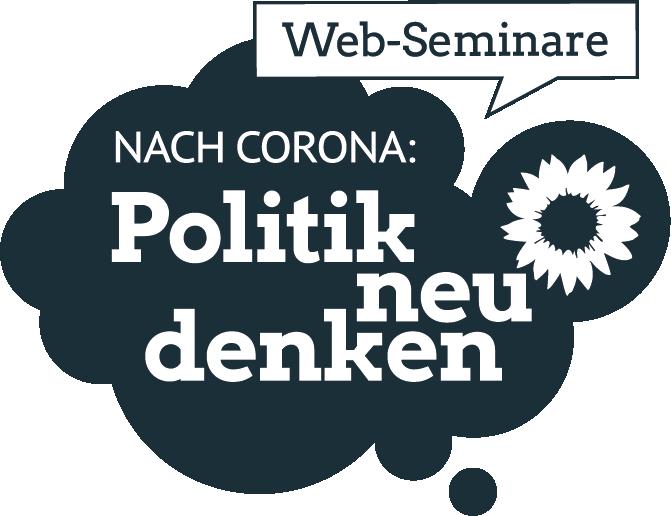 """Logo der Web-Seminar-Reihe """"Politik neu denken"""""""