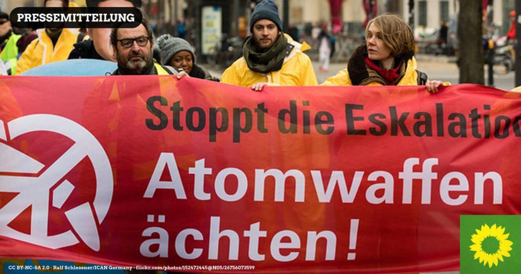 ICAN bei einer Demonstration gegen Atomwaffen