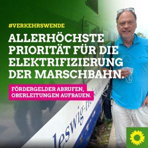 Die Elektrifizierung der Marschbahn muss allerhöchste Priorität haben.