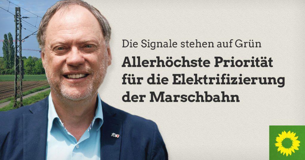 Allerhöchste Priorität für die Elektrifizierung der Marschbahn