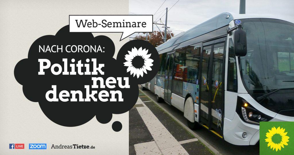 """Ankündigung des Web-Seminars """"Hybrid-Oberleitungsbusse – mit Spannung klimaneutral"""" am 21.10.2021"""